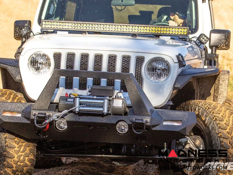 Jeep Gladiator Windshield Lightbar w/ Brackets - Carbide Black Powder Coat - 50""