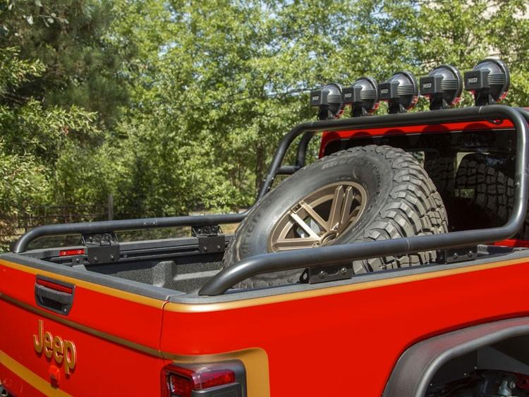 Jeep Gladiator Spare Tire Carrier - Bed Mount - Rugged Ridge