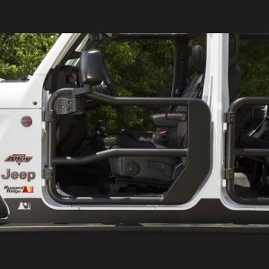 Jeep Gladiator Front Tube Doors - Black Powdercoat