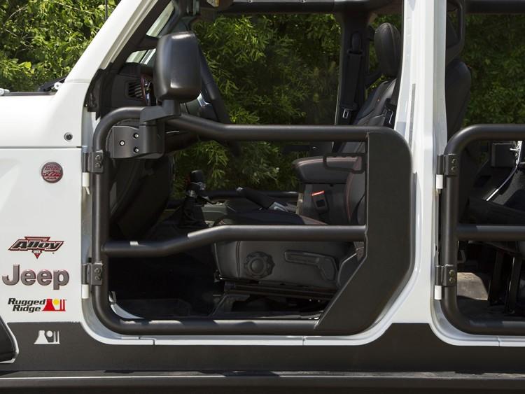 Jeep Gladiator Front Tube Doors - Black Powdercoat
