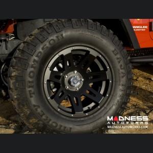 Jeep Wrangler JL XHD Wheel w/Black Center Cap - 17x9 - Black Satin