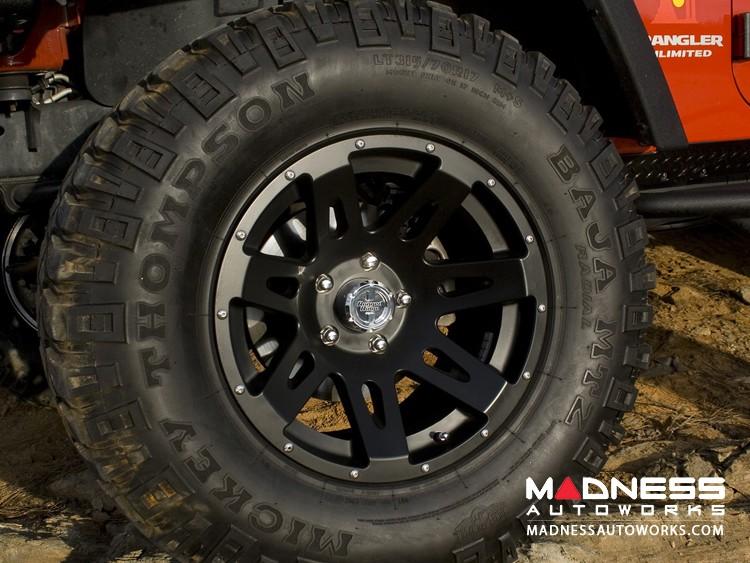 Jeep Gladiator XHD Wheel w/Black Center Cap - 17x9 - Black Satin