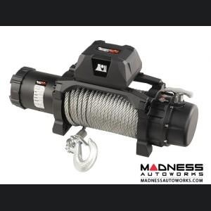 Jeep Gladiator Trekker Winch w/Synthetic Rope & Waterproof/Wired Remote - 12,500 LBS