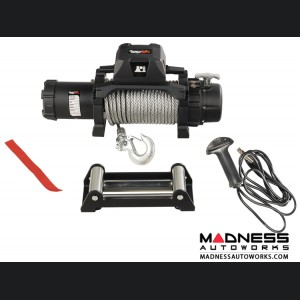 Jeep Gladiator Trekker Winch w/Synthetic Rope & Waterproof/Wired Remote - 12,500 LBS