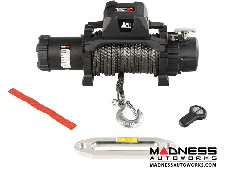Jeep Gladiator Trekker Winch w/Synthetic Rope & Wireless Remote - 12,500 lbs