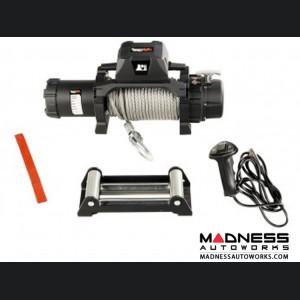 Jeep Gladiator Trekker Winch w/Synthetic Rope & Waterproof/Wired Remote - 10,000 LBS