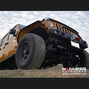 Jeep Wrangler JK Bull Bar Winch Guard - Premium Black Textured Powdercoat