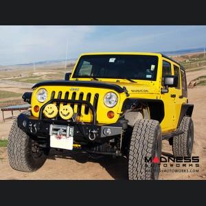 Jeep Wrangler JL Bull Bar Winch Guard - Premium Black Textured Powdercoat