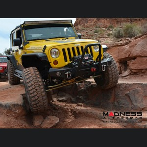 Jeep Wrangler JL Fixed Fairlead Offset Mount - Aluminum