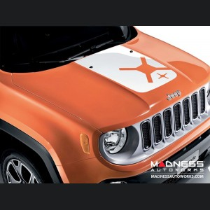 Jeep Renegade Snowboarding Bonnet and Bodyside Decal Kit - White