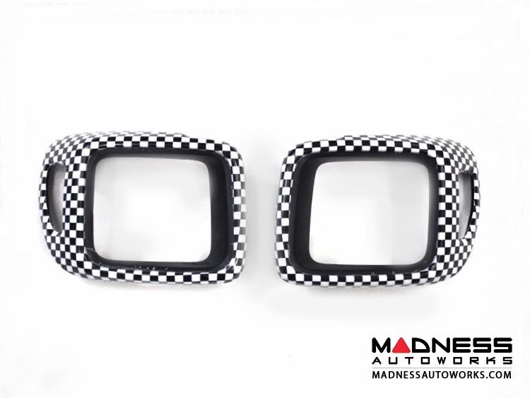 Jeep Renegade Taillight Trim Kit - Checkered Pattern