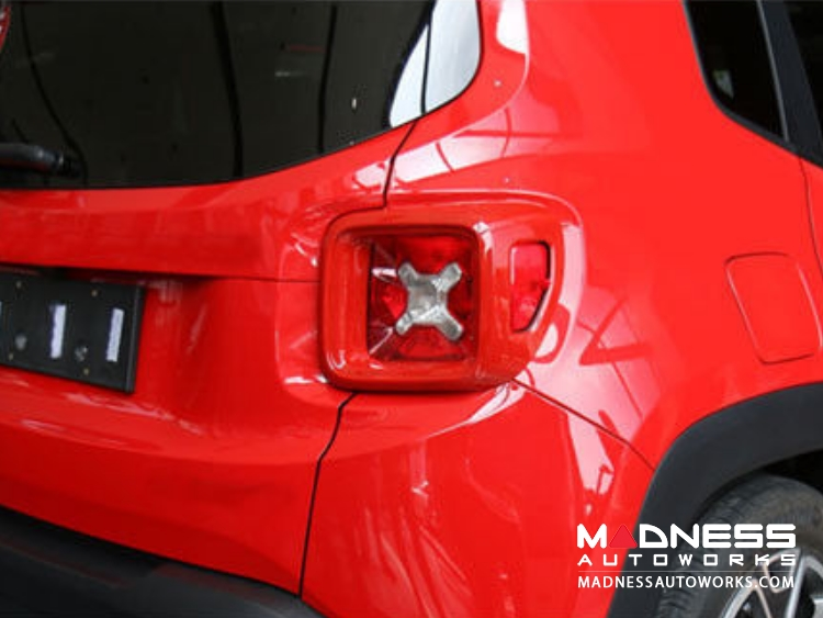 Jeep Renegade Taillight Cover Set - Red