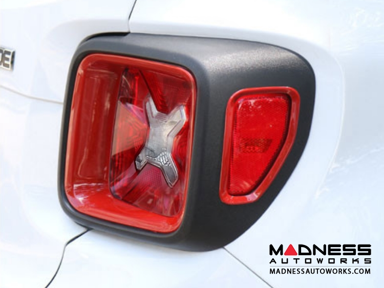 Jeep Renegade Taillight Inner Trim Pieces - Red