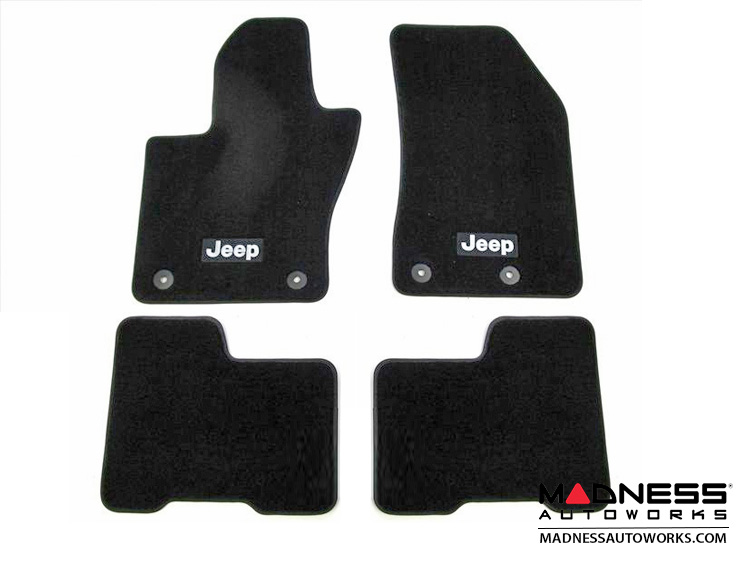 Jeep Renegade Floor Mats - Set of 4 (Front & Rear) - Black