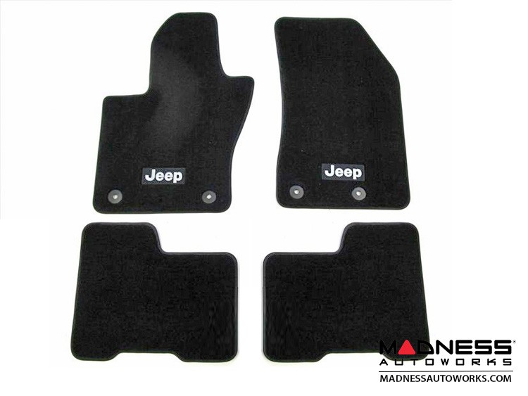 Jeep Renegade Floor Mats - Set of 4 (Front & Rear) - Black