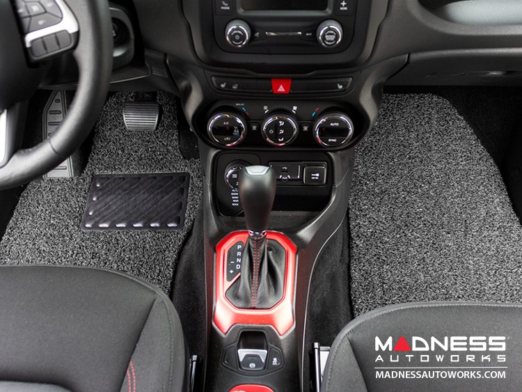 Jeep Renegade All Weather Floor Mats and Cargo Mat (set of 5) - Custom Rubber Woven Carpet - Black and Grey