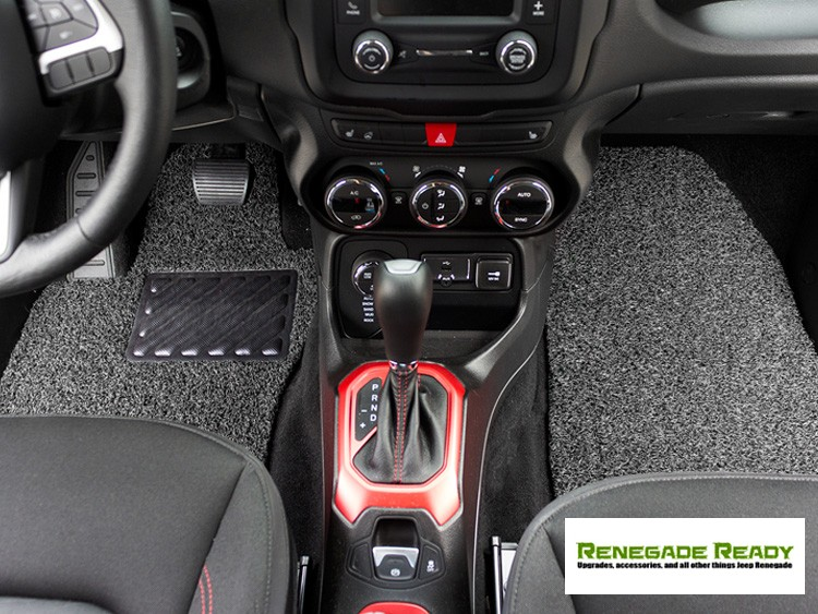Jeep Renegade All Weather Floor Mats And Cargo Mat Set Of 5 Custom Rubber Woven Carpet Black Grey By Sila Concepts