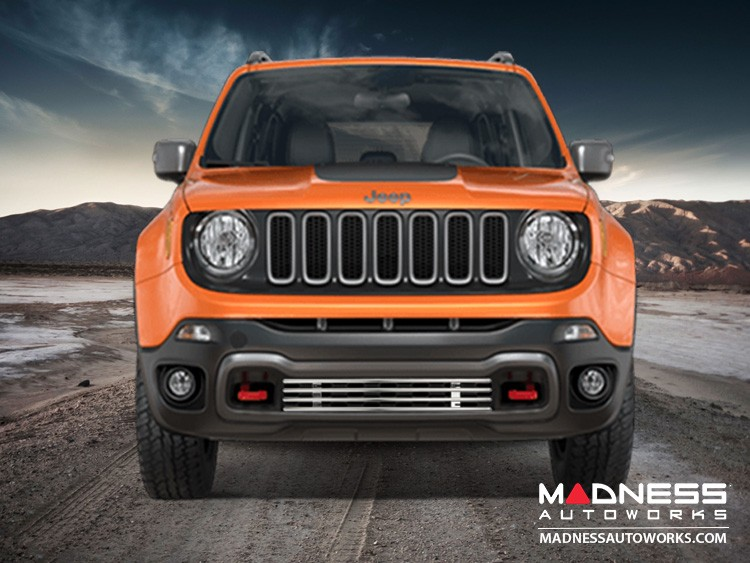 Jeep Renegade Front Grill - Chrome Finish