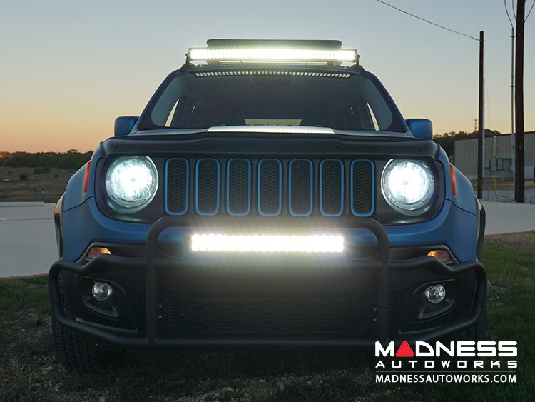 Jeep jeep renegade front bumper bar w led lights by madness jeep renegade front bumper bar w led lights by madness non trailhawk aloadofball Images