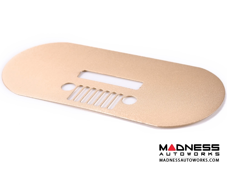 Jeep Renegade Spare Tire Cover Handle Trim - Gold