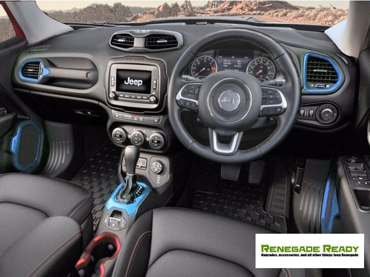 Jeep Renegade Interior Trim Kit   Blue   Right Hand Drive Great Ideas