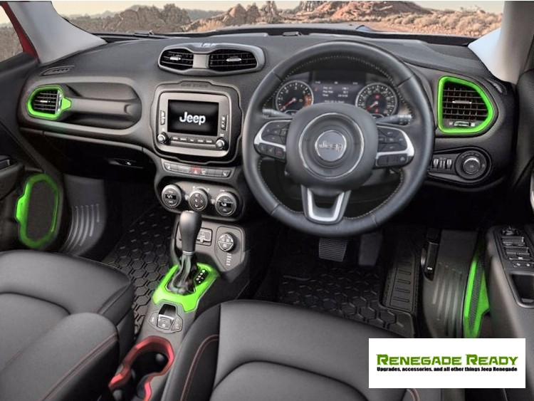 Jeep Renegade Interior >> Jeep Jeep Renegade Interior Trim Kit Green Right Hand Drive