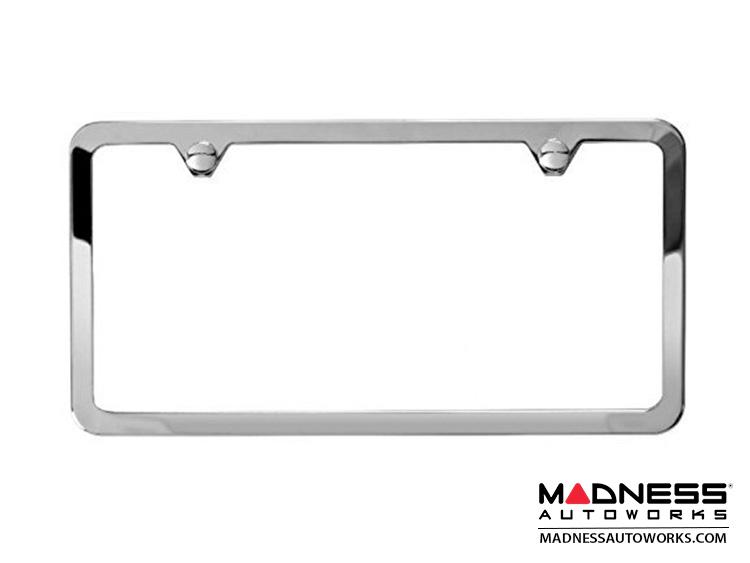 Jeep Compass License Plate Frame - Polished - Slim Edge