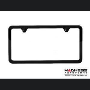 Jeep Compass License Plate Frame - Satin Black - Slim Edge