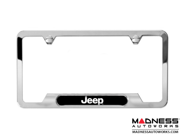jeep jeep renegade license plate frame polished w jeep logo. Cars Review. Best American Auto & Cars Review