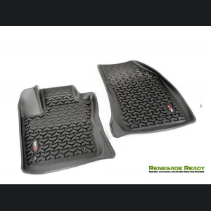 Jeep Renegade Floor Liner Front by Rugged Ridge - All Weather - Black
