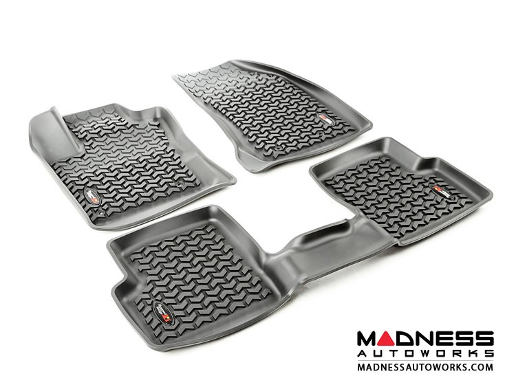 Jeep Renegade Floor Liner Set by Rugged Ridge - All Weather - Black