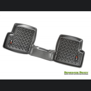 Jeep Renegade Floor Liner by Rugged Ridge - All Weather - Black - Rear