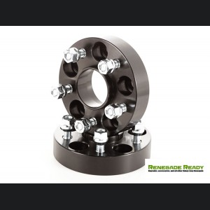 "Jeep Renegade Wheel Spacers by Rugged Ridge - 1.25"" - Black"