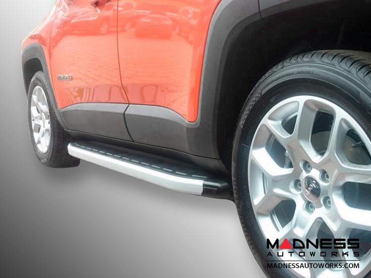 Jeep Renegade Side Steps - Brushed Satin