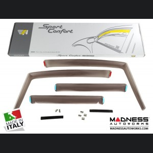 Jeep Renegade Side Window Air Deflectors - Front/ Rear Set 4 Piece Set - Mini Deflector