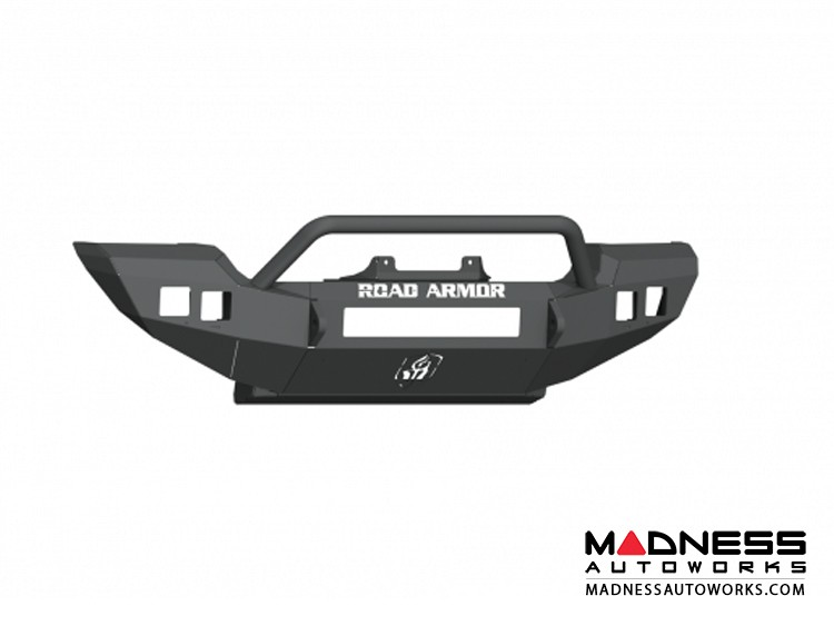Jeep Wrangler JL SPORT/SAHARA Stealth Winch Bumper Pre-Runner Guard - Full Width - Satin Black Road Armor
