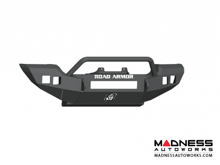 Jeep Wrangler JL SPORT/SAHARA Stealth Winch Bumper Pre-Runner Guard - Full Width - Satin Black Road Armor