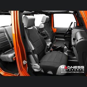 Jeep Wrangler JK Neoprene Front Seat Protectors - Black