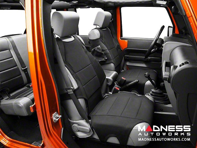 Jeep Wrangler Seats >> Jeep Wrangler Jk Neoprene Front Seat Protectors Black