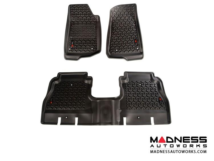 Jeep Wrangler JL All Terrain Floor Liner Kit - Black - 4 Door