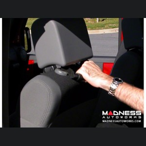 Jeep Wrangler JK Back of Front Seat Mount Grab Handles - Black