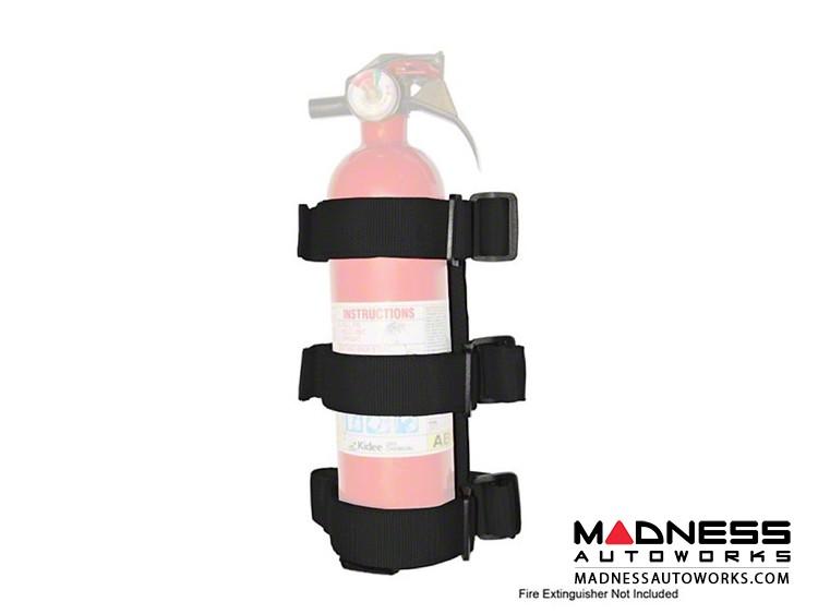 Jeep Wrangler JL Sport Bar Fire Extinguisher Holder w/o Extinguisher - Black