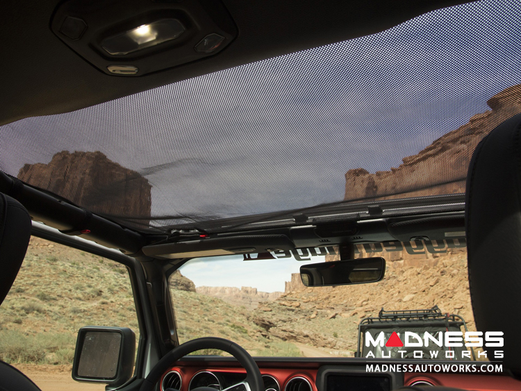 Jeep Wrangler JL Hard Top Eclipse Sun Shade - Black