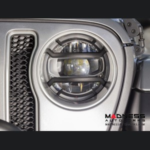 Jeep Wrangler JL Elite Euro Guard Kit w/ Headlight - Black