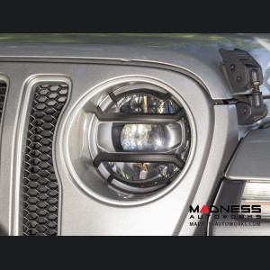 Jeep Wrangler JL Elite Euro Guard Kit w/ Headlight - Black