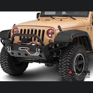 Jeep Wrangler JK Elite Pivotal Headlight Euro Guard Kit - Red