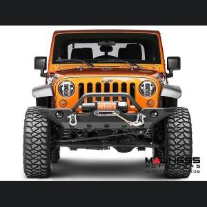 Jeep Wrangler JK Elite Pivotal Headlight Euro Guards - Raw Aluminum