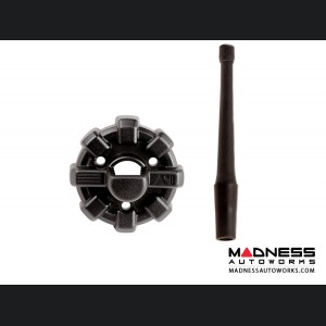 Jeep Wrangler JL Elite Antenna Base w/ Reflex Antenna - Black - 6""
