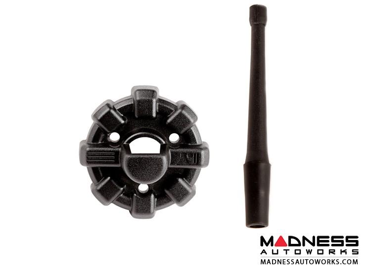 "Jeep Wrangler JL Elite Antenna Base w/ Reflex Antenna - Black - 6"""