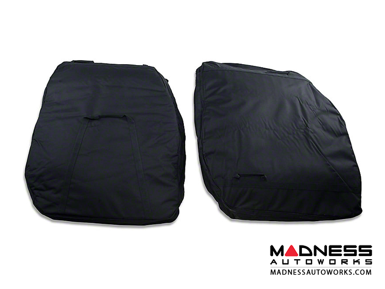 Jeep Wrangler JK Front Door Storage Bag Kit - Black